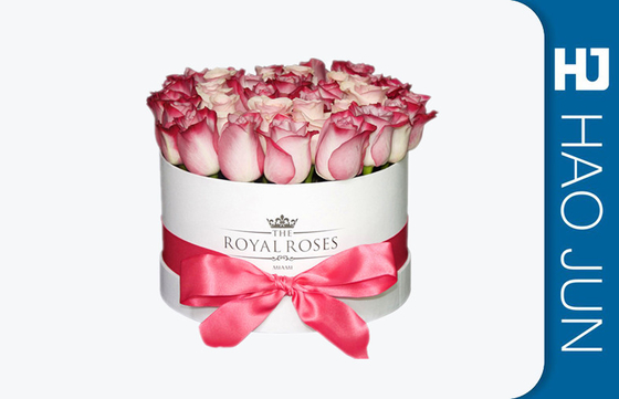 Hot Jual Paper Large Round Karton Flower Boxes Romantic Round Box Dengan Pita